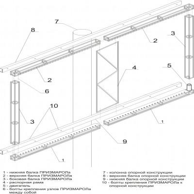 Схема монтажа Призмарола на